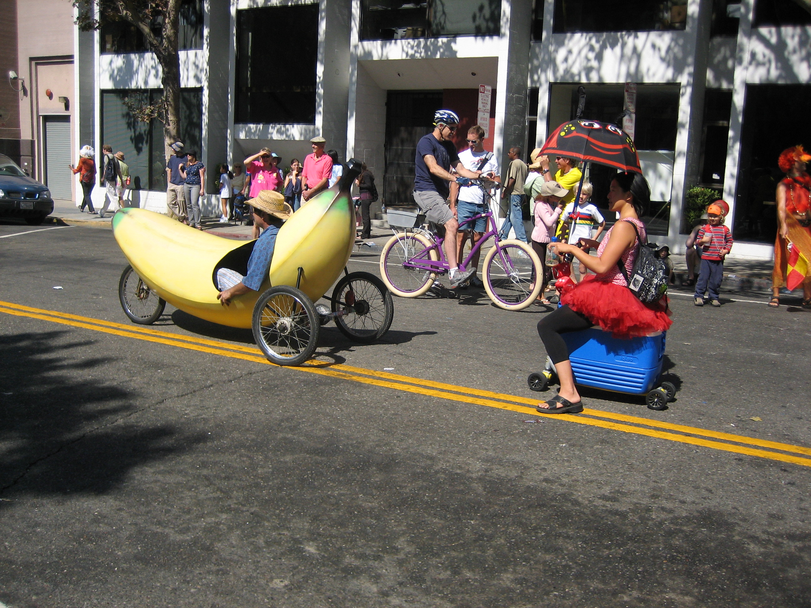 The requisite banana-mobile.