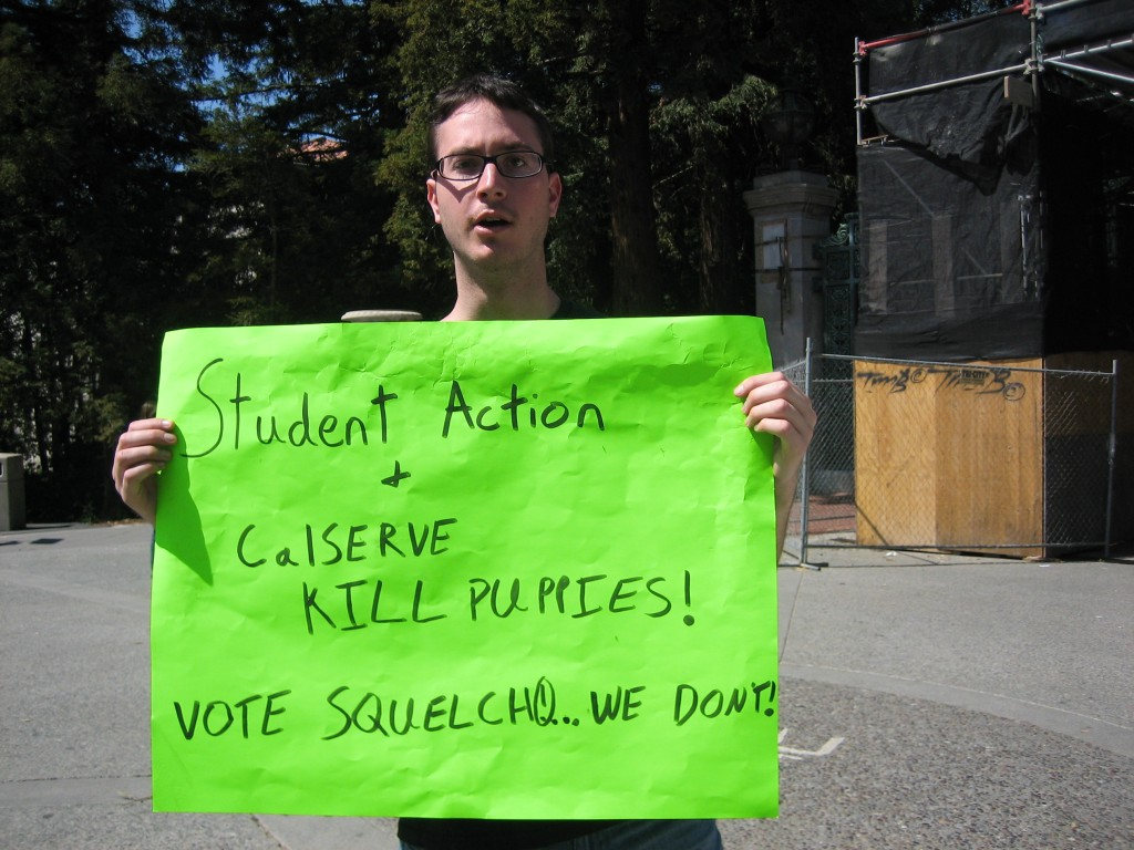 """""""Student Action and CalSERVE KILL PUPPIES"""""""