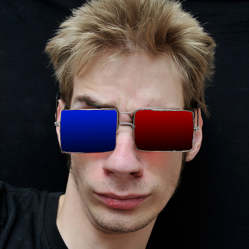 Teenager wears Real 3D Glasses