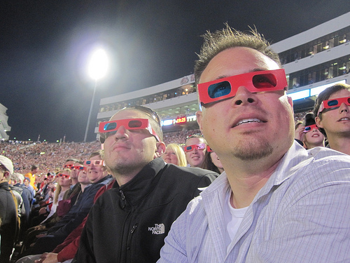 Never done 3D at a football games.