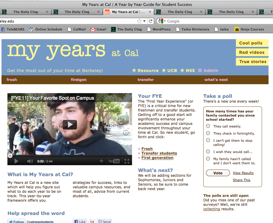 My Years - Home Page