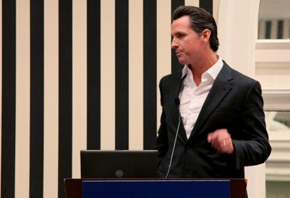 Gavin Newsom, gettin' it done.