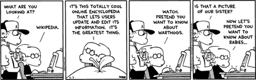 wikipedia cartoon strip