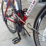Use the cable to secure your front tire to the U-Lock