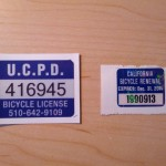 Bike License Stickers